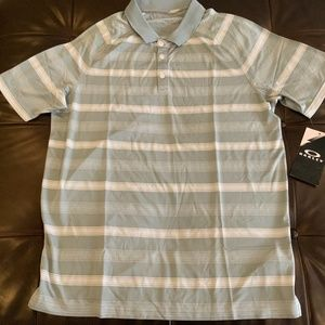 Oakley Hydrolix men's golf polo shirt, size L,
